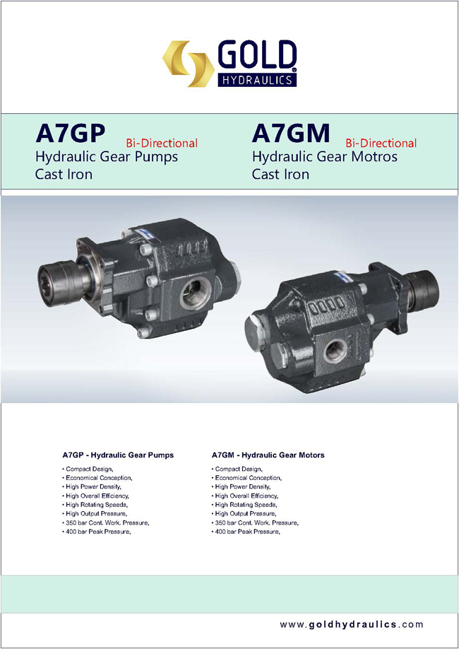 Bent Axis Piston Pumps Motors
